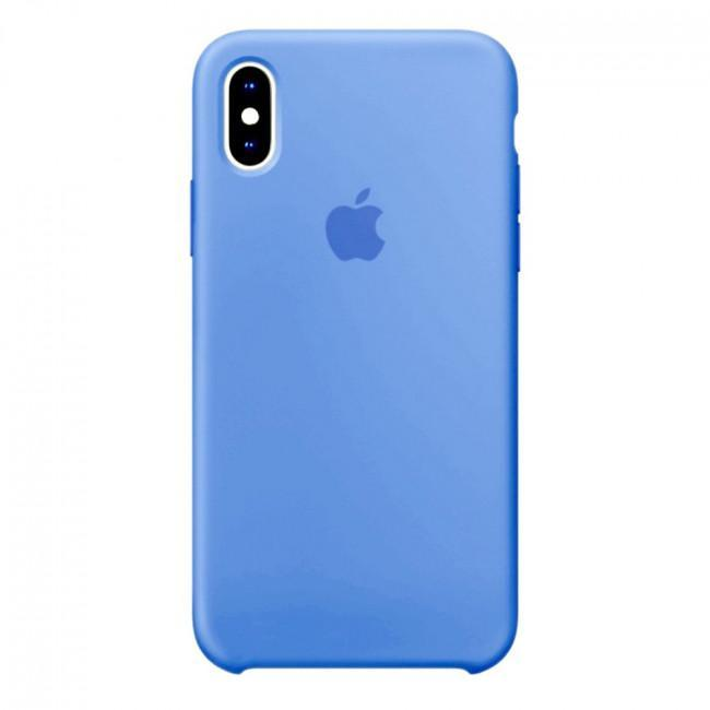 Чехол для iPhone Xs MAX Silicone case Blue