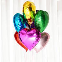 """Кулька пов. серце металік 18"""""""