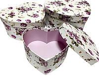 Подарочная коробочка в виде сердца 3 в 1
