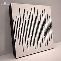 «Wave Panel» 70 мм (50*50 см) звукопоглощающая акустическая панель. Цвет: белый