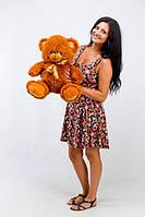 Плюшевый медведь Томми коричневый  (50 см)