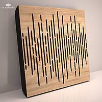 «Wave Panel» 70 мм (50*50 см) звукопоглощающая акустическая панель. Цвет: дуб сонома