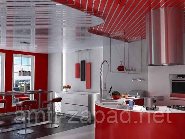 Алюминиевый реечный потолок Украина, фото 1