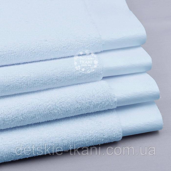 Непромокаемая махровая ткань голубого цвета