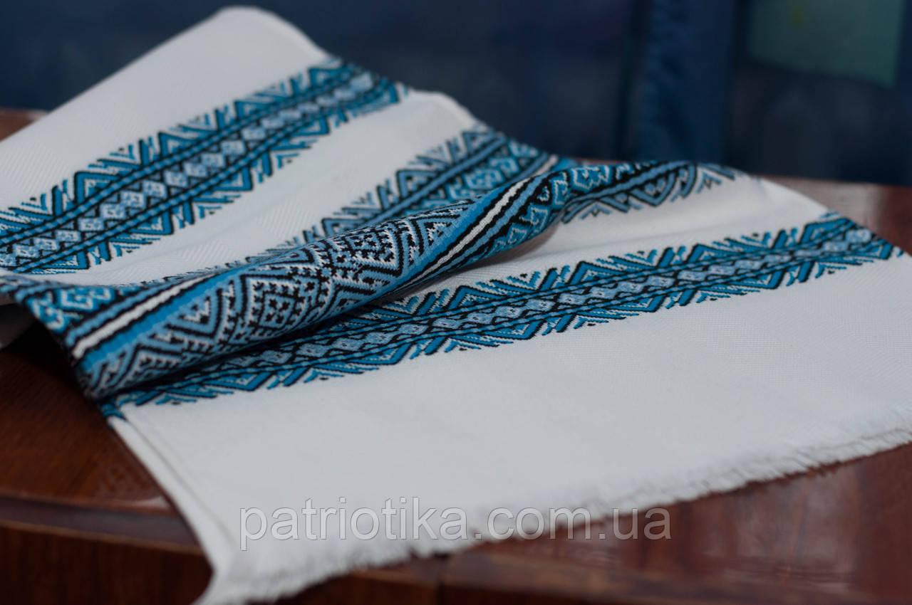 Вышитый | Вишитий рушник 1,5м Соборна голубой