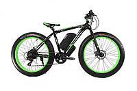 Электровелосипед LKS fatbike зелёный1000 (20181116V-32)  E-motion