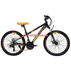 Подростковый велосипед Kinetic Sniper 24 дюйма черный