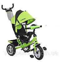 Трехколесный детский велосипед Turbo Trike M115 (2018) надувные колеса & фара
