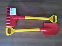 Игрушка лопата и грабли технок