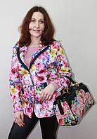 Пиджак женский с цветочным принтом