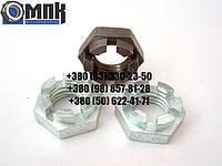 Гайки корончатые низкие М12 нержавеющие DIN937, сталь А2, А4. Гайка корончатая низкая.