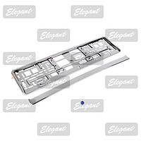 Рамка под номера Elegant  EL 100 587 металлизированная хром