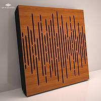 «Wave Panel» 70 мм (50*50 см) звукопоглощающая акустическая панель. Цвет: вишня