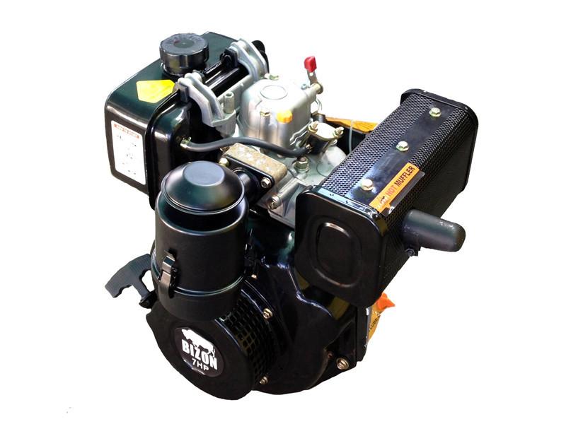 Двигатель BIZON 178FE (дизель 7 л.с., шлицы 25 мм, электростартер)