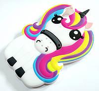Чохол дитячий для Sony Xperia XA dual f3111 силіконовий об'ємний іграшка єдиноріг unicorn