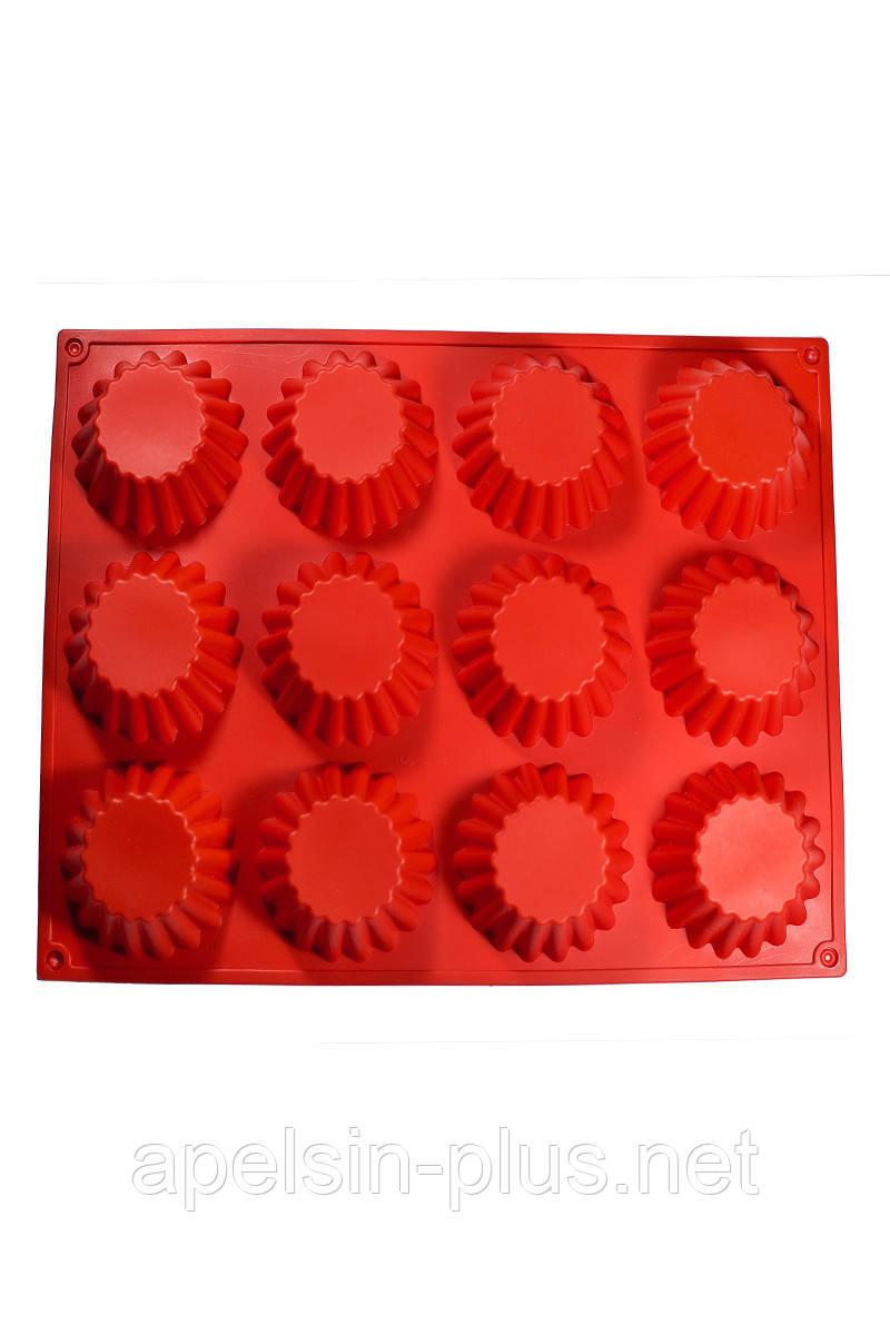 Силиконовая форма для выпечки Кексы малютки на 12 ячеек