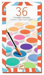 Набор красок сухая гуашь 36 цветов DJECO