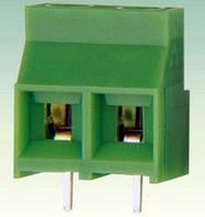 Клеммник винтовой DC 950-9.5-02P шаг 9,5мм Зеленый