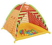 68080 BW Палатка детская для игр с 40 шариками 112х112х90 см (68080)