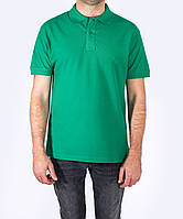 Футболка - поло мужская, Зеленая, JHK T-shir, однотонная промо одежда, от XS до 5XL