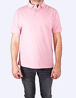 Поло - футболка мужская, Розовый цвет, JHK T-shir, однотонная, промо одежда, от XS до 5XL