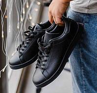 Adidas Stan Smith Black | кроссовки-кеды мужские и женские; черные