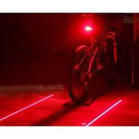 Вело фонарь велосипедная лазерная дорожка, фото 1