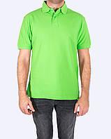 Поло - футболка мужская, салатовый цвет, JHK T-shir, однотонная, промо одежда, от XS до XXL