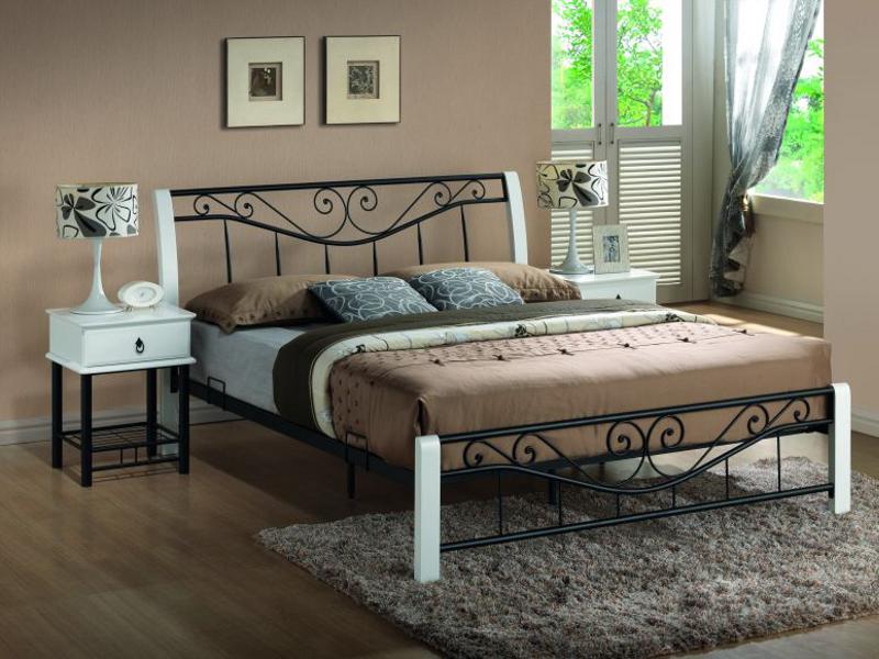 Кровать Parma 160x200 Signal бело-черный