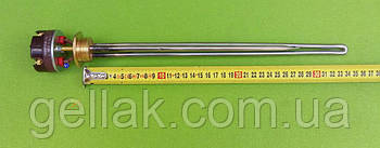 """Тен нержавійка для алюмінієвої батареї 700W (Туреччина) різьба 1"""" з італійським термостатом Reco з термозахистом"""
