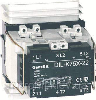 DL- K90Х 90KBт/170A, АС-3, 230B контактор Ganz KK