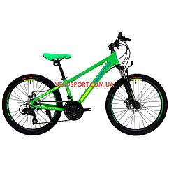 Подростковый велосипед Kinetic Sniper 24 дюйма зеленый