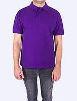 Поло - футболка фиолетовая мужская, JHK T-shir, однотонная, промо одежда, от XS до XXL