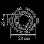 Светодиодный точечный светильник MAXUS 1-MAX-01-3-SDL-12-С 3-step 12W 3000/3500/4100K Круглый, фото 2