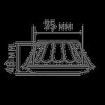 Светодиодный точечный светильник MAXUS 1-MAX-01-3-SDL-12-С 3-step 12W 3000/3500/4100K Круглый, фото 3