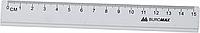 Линейка алюминиевая 15см, цвет: серебристый