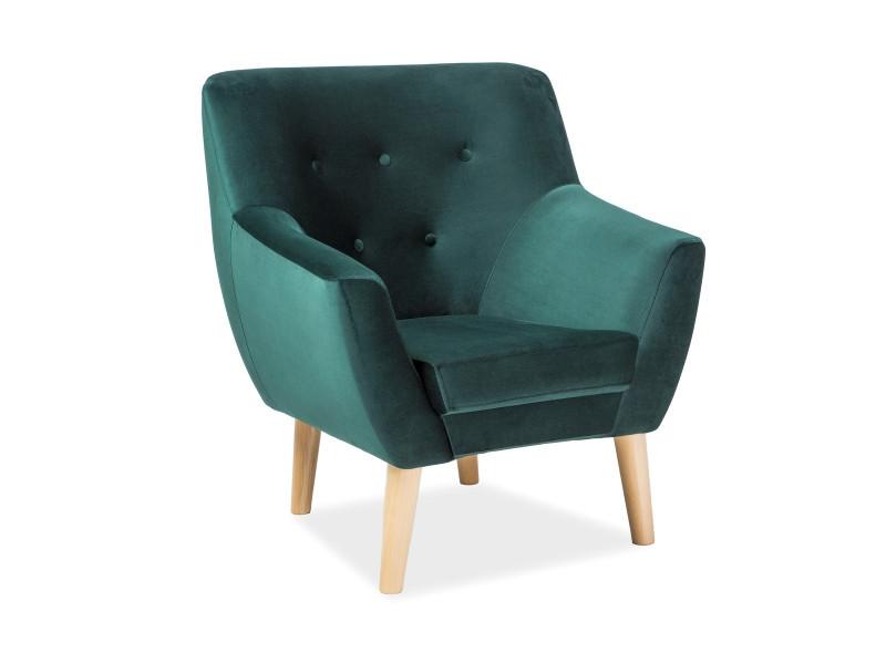 Кресло Signal Nordic 1 Velvet (синий, зеленый,розовый, серый, мята) (Signal)