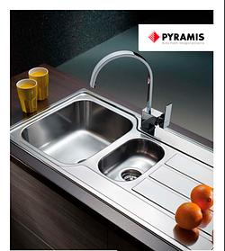 Pyramis - врезные мойки в столешницу или в один уровень со столешницей