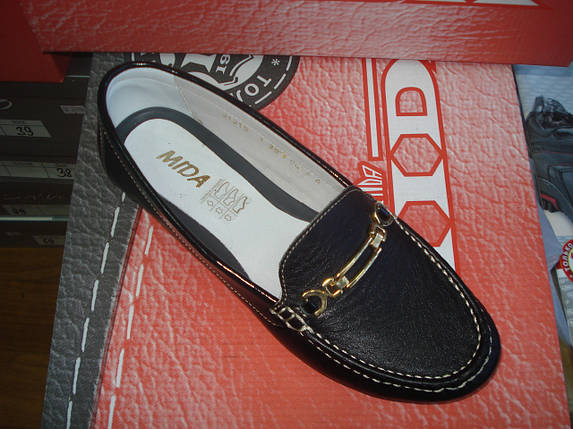 Мокасины женские кожаные МИДА 21215 черные., фото 2
