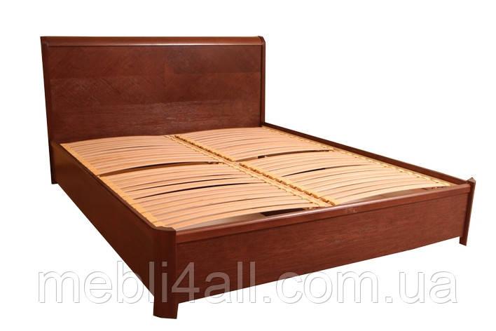 Кровать Милена с буковой подъемной рамой с ламелями