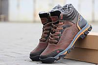 Мужские зимние ботинки коричневые с оранжевым Merrell 6416 (Ботинки зимние  чоботи чоловічі зимові теплі обувь 6a94c7cce489a