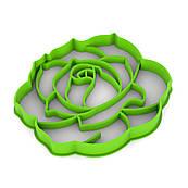 Вырубка для пряников Роза-2 7,5*8 см (3D)