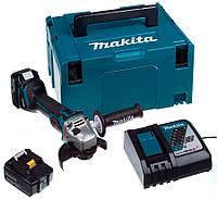 Аккумуляторная бесщеточная болгарка Makita DGA504RTJ + 2 акб 18 V 5 Ah + з/у + MakPac