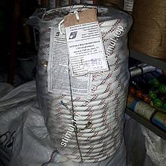 Веревка страховочная спасательная 12 мм х 100 м высокопрочная (Гродно Азот)