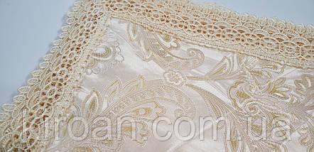 Золотистая скатерть с кружевом 150х225 (код А67814), фото 3