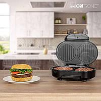 Электрический гриль для гамбургеров закрытый CLATRONIC HBM 3696