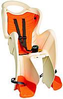 Сиденье заднее BELLELLI Pepe Clamp BEIGE детское до 22кг (бежевый с оранж подкладкой)