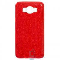 Чехол силиконовый Shine Samsung J7 2016 J710 красный