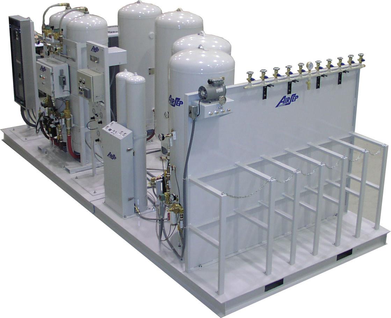 Станция заправки баллонов кислородом