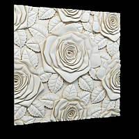 Декоративные гипсовые 3D панели Gipster «Розы»